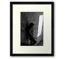 Self Portrait- Abandoned Asylum New York  Framed Print