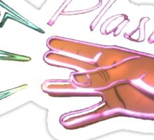 Neon Plasmids sign Sticker