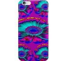 The Psycho flowers in purple iPhone Case/Skin