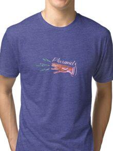 Neon Plasmids sign Tri-blend T-Shirt