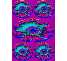 The Psycho flowers in purple Photographic Print