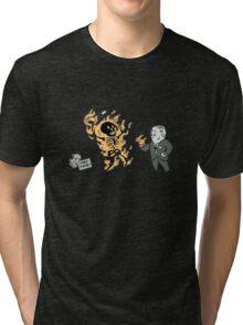 incinerate advert Tri-blend T-Shirt