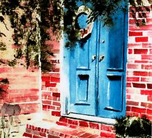 Blue Door  by Sandra Lee Woods