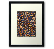 Autumn pattern Framed Print