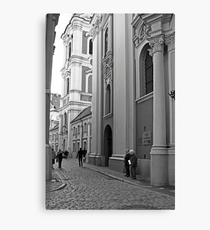 Poznan street scene Canvas Print