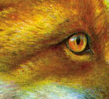 Portrait of a fox Sticker
