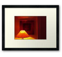 light square Framed Print