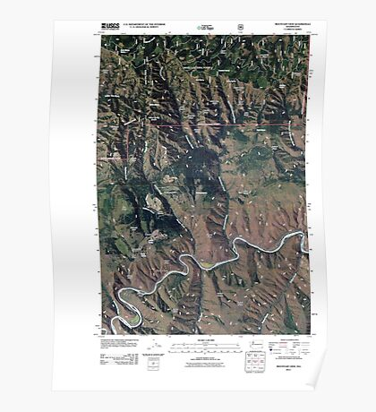USGS Topo Map Washington State WA Mountain View 20110421 TM Poster