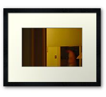 man in the mirror Framed Print