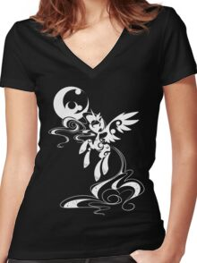 My Moon's Lineage (White) Women's Fitted V-Neck T-Shirt