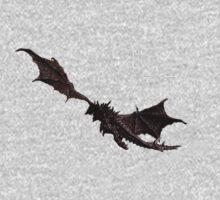 Dragon flying away Kids Tee