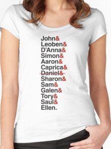 Cylon Jetset (black) Women's Fitted Scoop T-Shirt