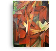 """Foxes"" -  Homage to Franz Marc (1913)     Canvas Print"