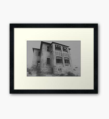 Mansion in the Mist Framed Print