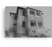 Mansion in the Mist Metal Print