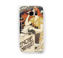Vintage woman with harp and quill Samsung Galaxy Case/Skin
