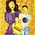 Mother's Pride ~ beautiful boys by Lisa Frances Judd~QuirkyHappyArt