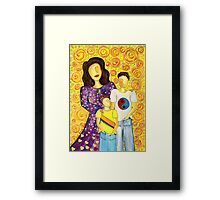 Mother's Pride ~ beautiful boys Framed Print