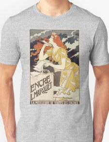 Vintage woman with harp and quill Unisex T-Shirt
