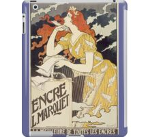Vintage woman with harp and quill iPad Case/Skin