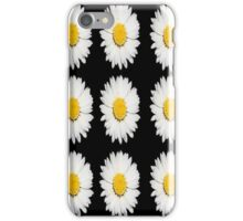 Nine Common Daisies Isolated on A Black Background iPhone Case/Skin
