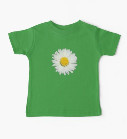 Nine Common Daisies Isolated on A Black Background Baby Tee