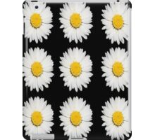 Nine Common Daisies Isolated on A Black Background iPad Case/Skin