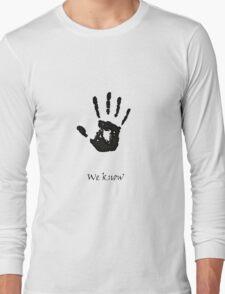 Dark Brotherhood Knows.. You've been Bad! Long Sleeve T-Shirt