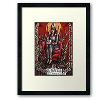 Hannibal tarots - La papesse (colored version) Framed Print