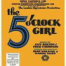 THE 5 OCLOCK GIRL (vintage illustration) by ART INSPIRED BY MUSIC