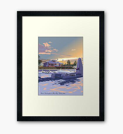 Rose Bay, Sydney and Flying Boat Framed Print