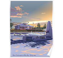 Rose Bay, Sydney and Flying Boat Poster