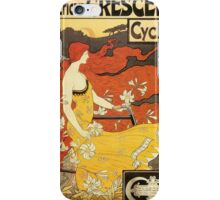 Vintage American art nouveau Bicycles ad iPhone Case/Skin