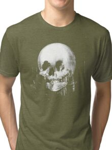 All Is Vanity: Halloween Life, Death, and Existence Tri-blend T-Shirt
