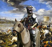 Staffordshire Bull Terrier Art - Call of the King final battle by NobilityDogs