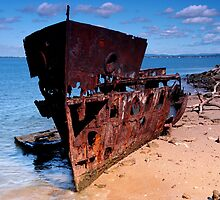 Old Ship Wreck by Mark Bilham
