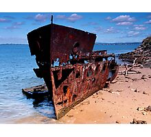 Old Ship Wreck Photographic Print