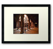 Siena - Pienza Palace Framed Print