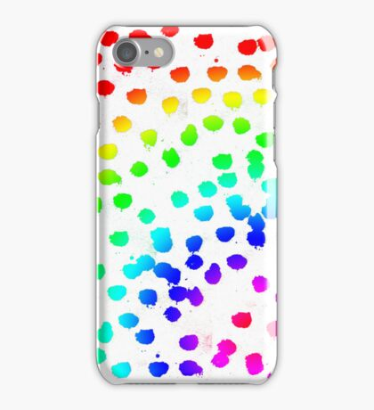 Rainbow Glitter and Paint iPhone Case/Skin