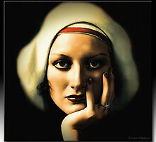 I Can See Through You - Joan Crawford in Oil by Richard  Gerhard