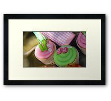 Cup cakes for new baby... Framed Print