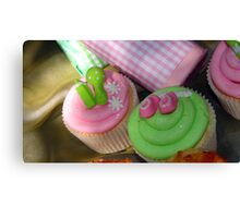 Cup cakes for new baby... Canvas Print