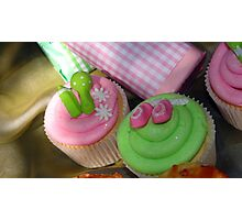 Cup cakes for new baby... Photographic Print