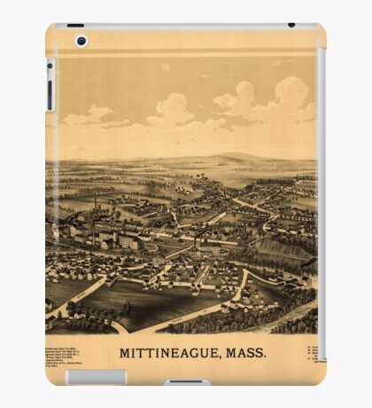 Panoramic Maps Mittineague Mass iPad Case/Skin