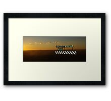 Outback intersection Framed Print