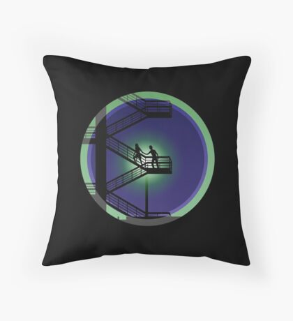 Lovers on a runaway Throw Pillow