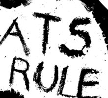 Rats Rule White Sticker