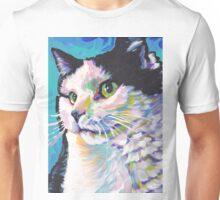 Tuxedo Cat Bright colorful pop kitty art Unisex T-Shirt