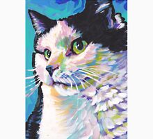 Tuxedo Cat Bright colorful pop kitty art T-Shirt