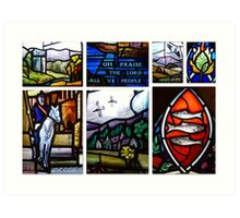 The Old Parish Church of Peebles ~ Stained Glass Windows Art Print